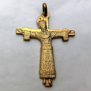 Croce Volto Santo - argento laminato oro