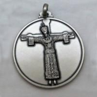Medaglia Volto Santo a figura intera - argento