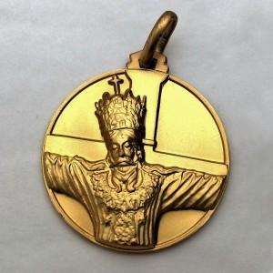 Medaglia Volto Santo - argento laminata oro