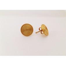 Orecchini labirinto- Argento laminati oro